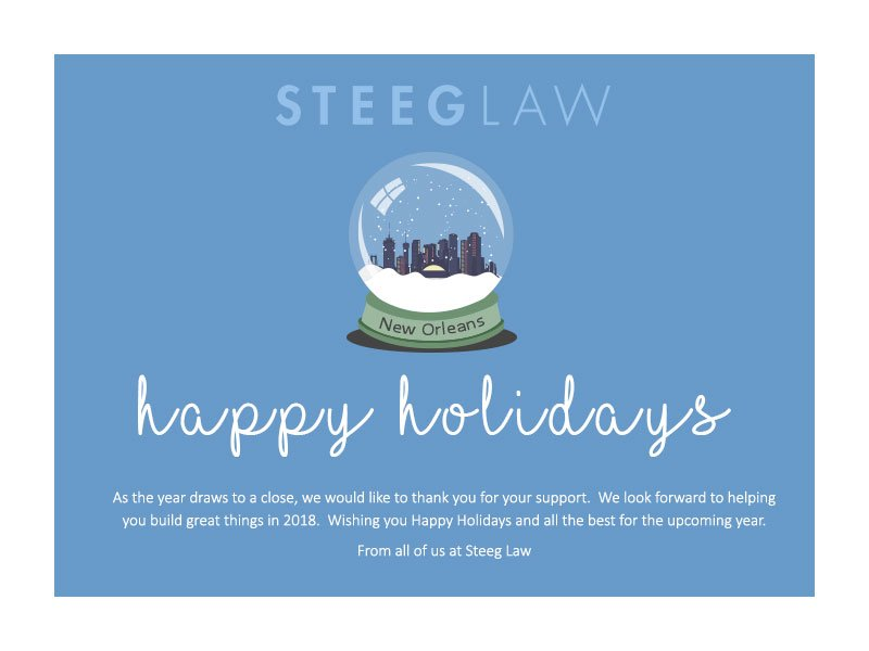 Steeg Law holiday card